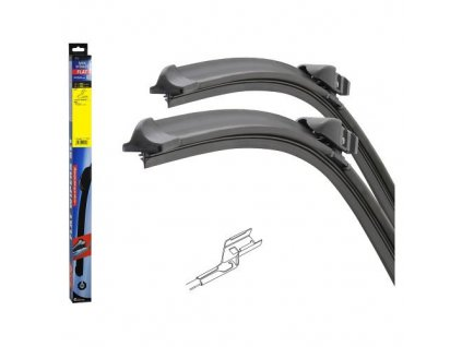 Stěrač FLAT SET (SLOT) 660mm Peugeot 108 2014-
