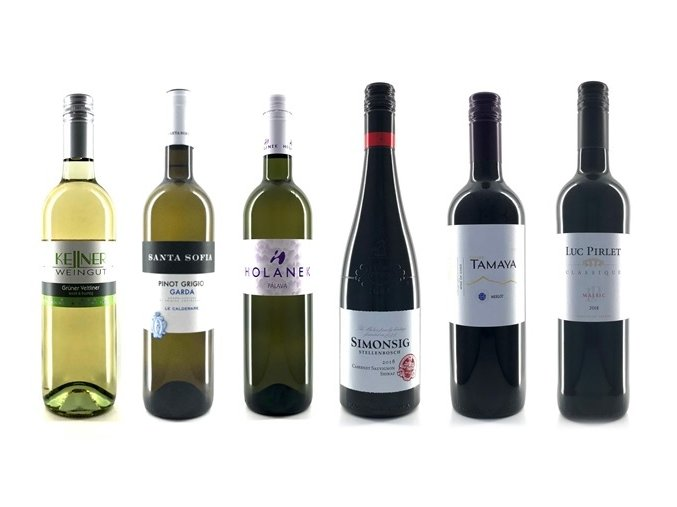 """Vinný balíček """"Cesta kolem světa ... během šesti lahví!"""""""
