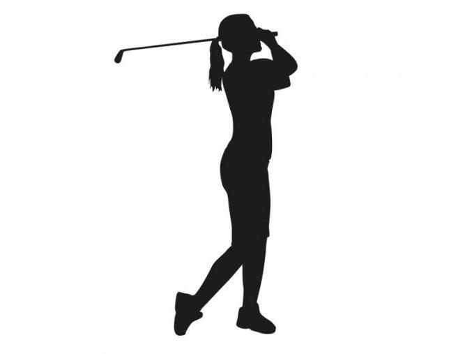 depositphotos 82566564 stock illustration woman golfer silhouette