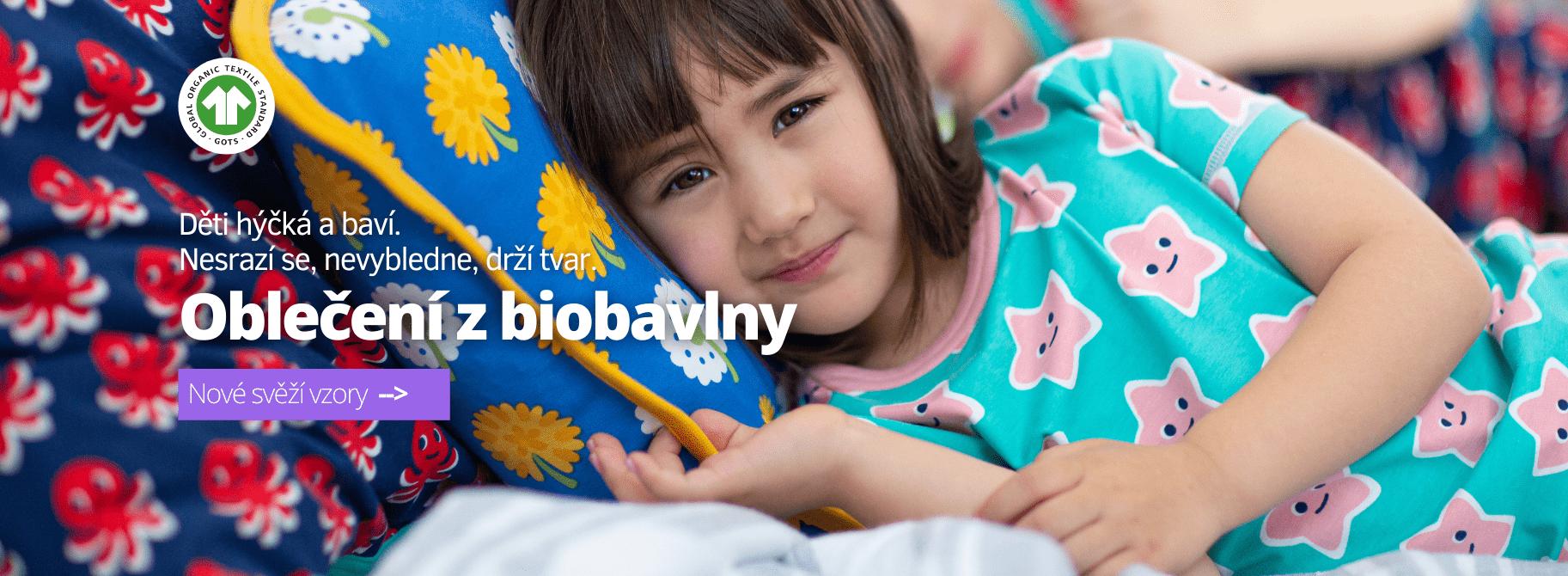 Dětské a kojenecké oblečení z biobavlny - jarní novinky