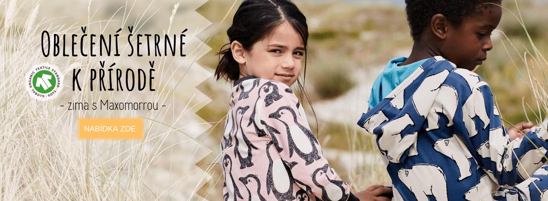 Maxomorra - kojenecké a dětské oblečení z organické bavlny