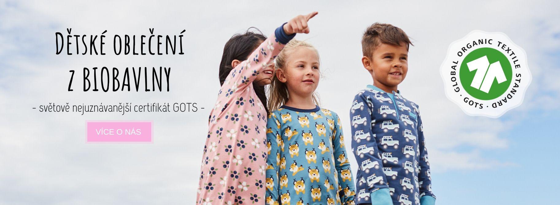 Dětské a kojenecké oblečení z biobavlny