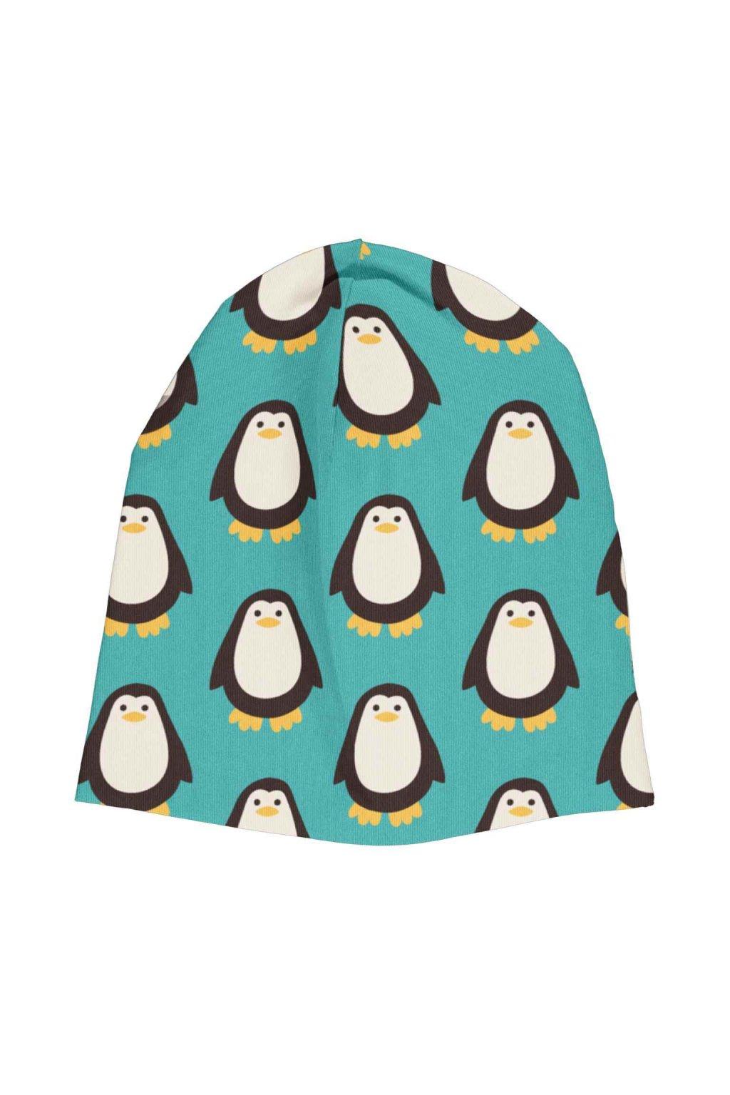 biobavlnena detska zimni cepice penguin maxomorra (1)