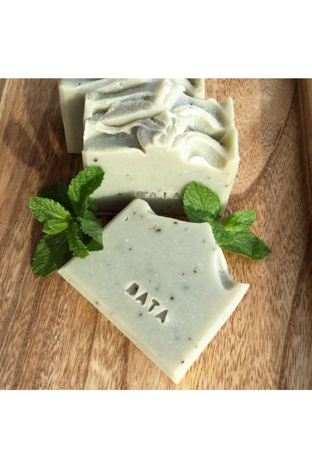 přírodní mýdlo máta a zelený jíl mýdlenka