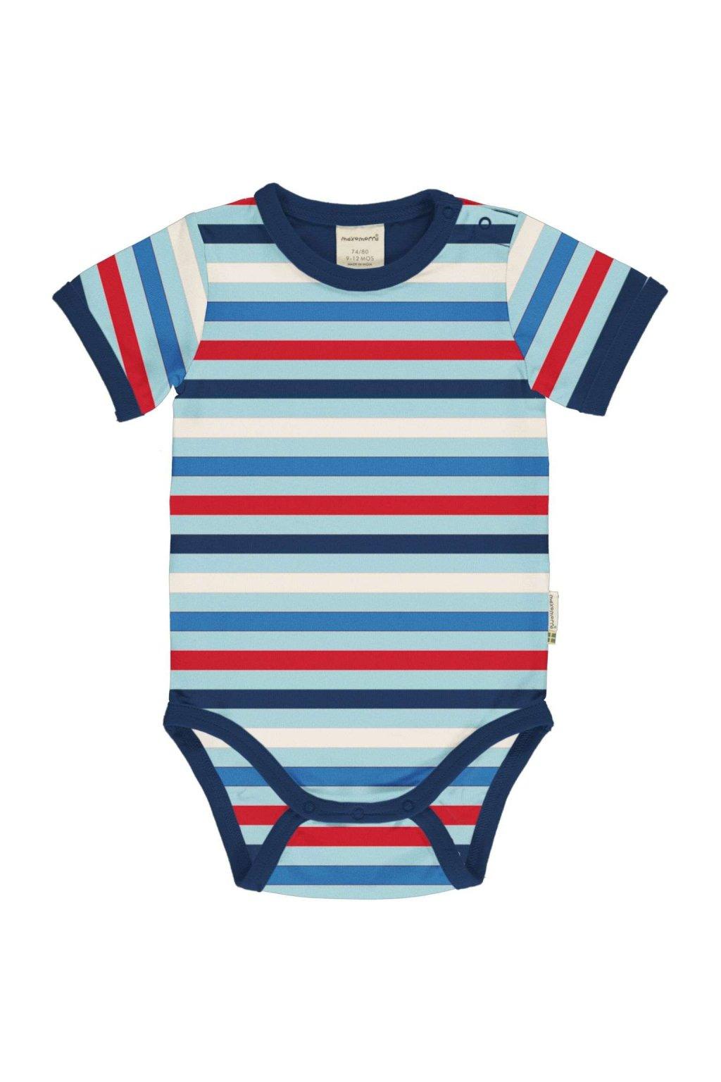 biobavlnene kojenecke body s kratkym rukavem stripe ice maxomorra (3)