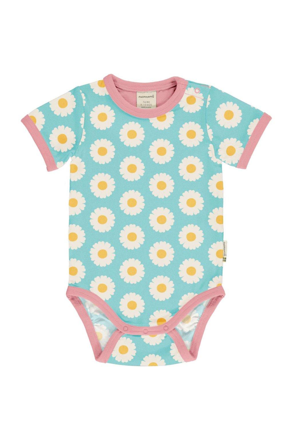 biobavlnene kojenecke body s kratkym rukavem daisy maxomorra (2)