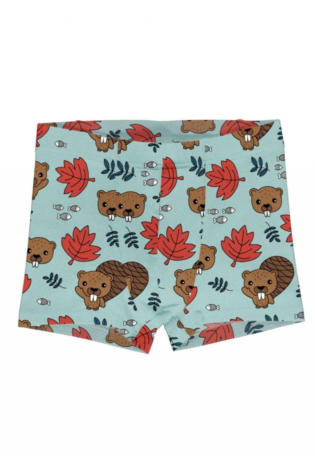 biobavlnene chlapepecke boxerky beaver friends meyadey