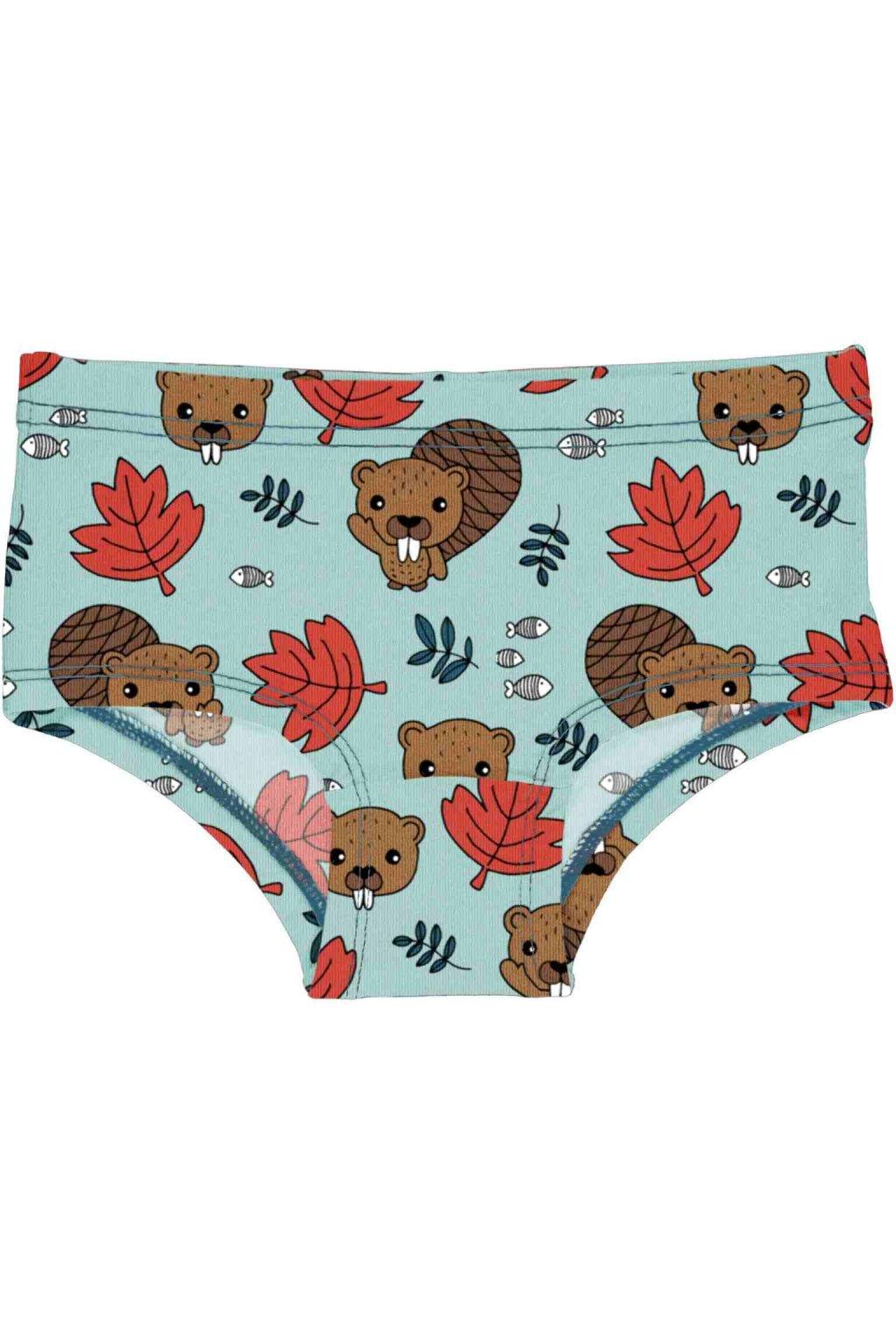 biobavlnene divci kalhotky beaver friends meyadey (2)