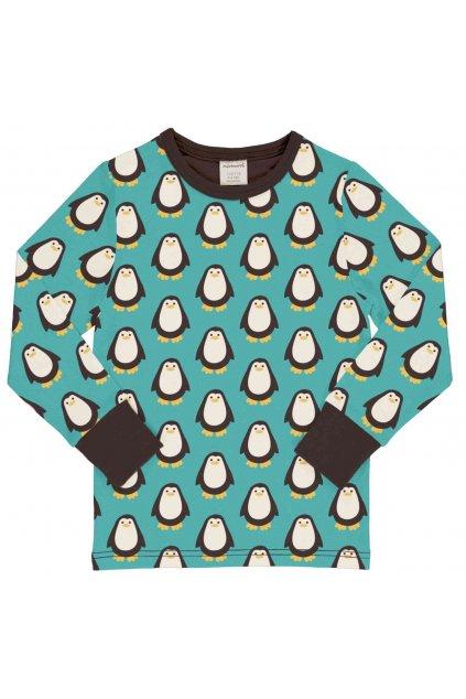 biobavlnene detske tricko s dlouhym rukavem penguin maxomorra (4)