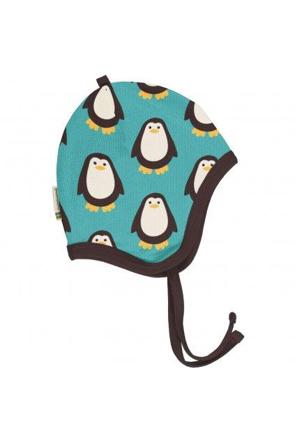 biobavlnena kojenecka cepice zimni penguin maxomorra (1)