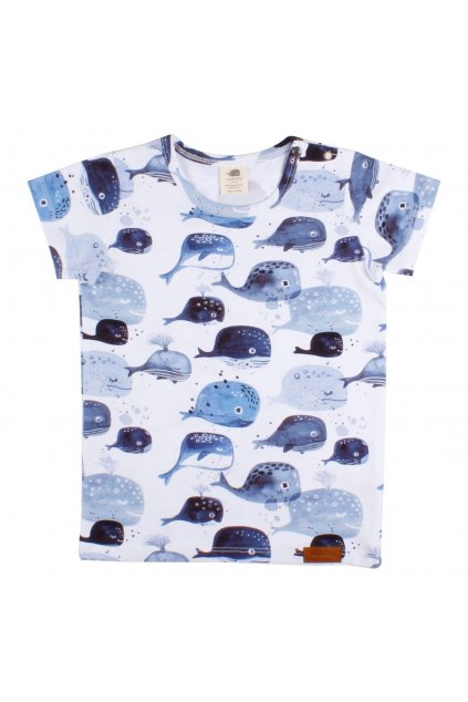 detske tricko baby whales walkiddy
