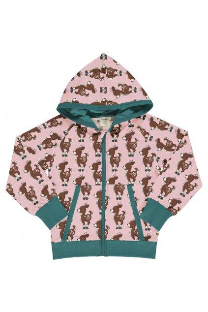 detska minika na zip s kapuci fawn maxomorra (2)