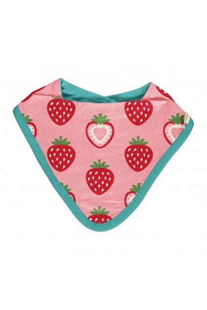 biobavlneny kojenecky bryndacek nakrcnik strawberry maxomorra