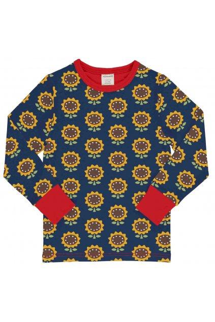 biobavlnene detske tricko s dlouhym rukavem sunflower maxomorra (1)
