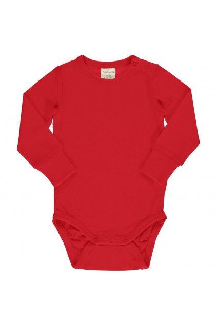biobavlnene body pro miminka s dlouhym rukavem ruby maxomorra (3)