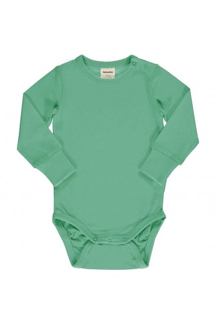 biobavlnene zelene kojenecke body s dlouhym rukavem cascade meyadey (3)