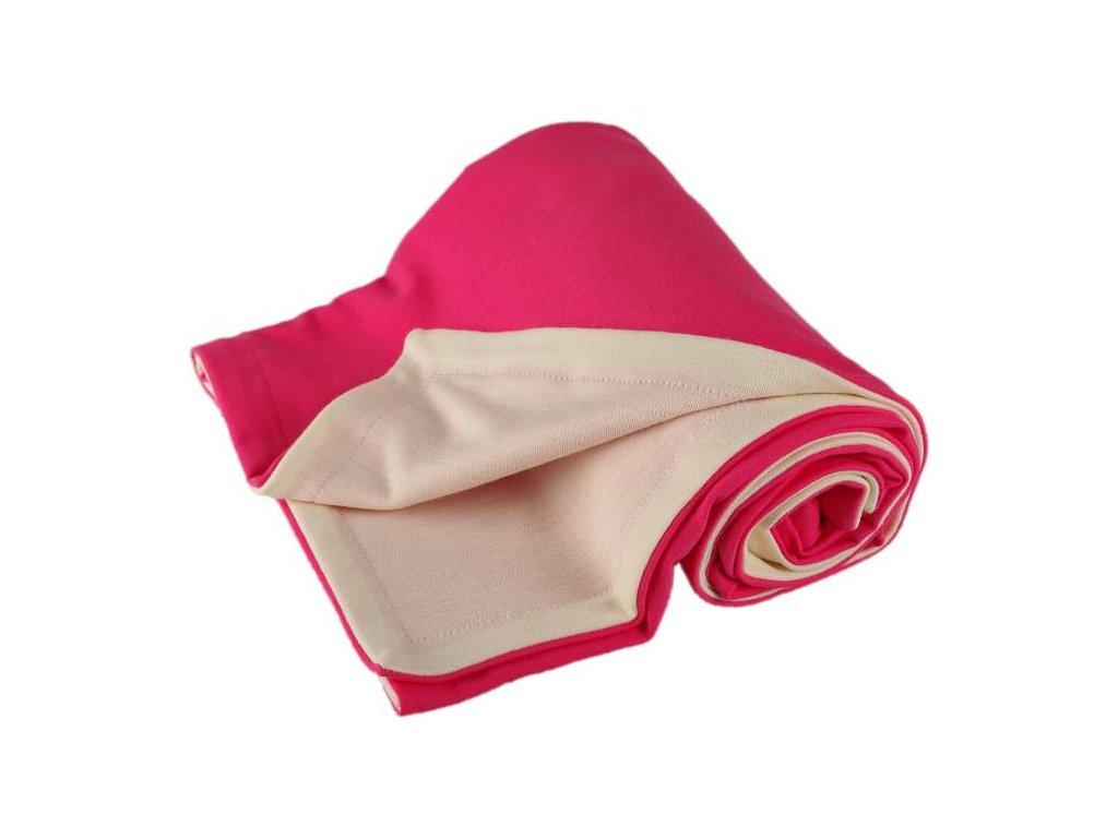 1386 detska merino deka ruzova