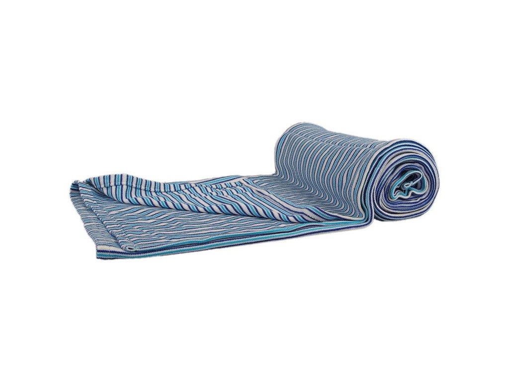 1968 bambusova deka modre pruzky oboulic