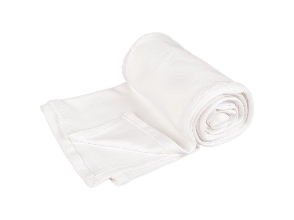 2955 letna deka 70x100cm z bio bavlny biela