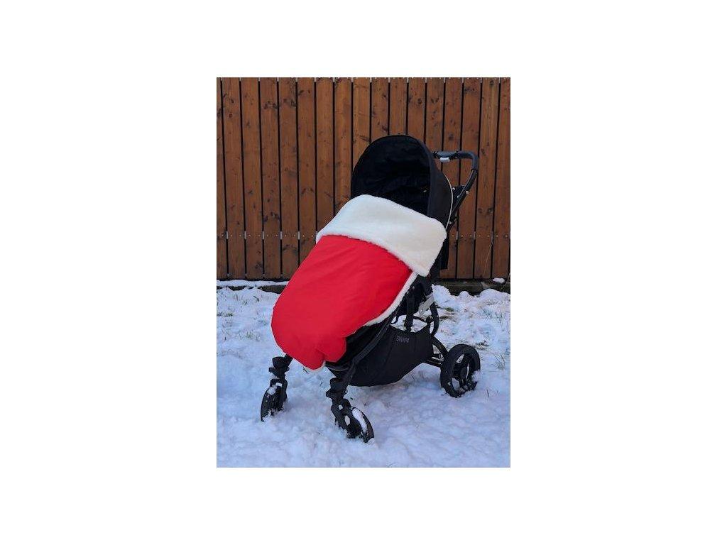 3282 cervena zimna merino deka nepadajuca