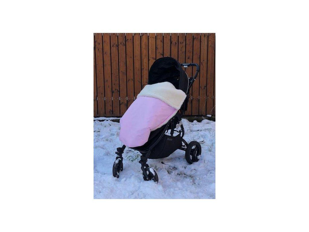 3297 baby pink zimna merino deka nepadajuca
