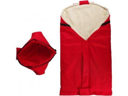 1797 novy cerveny fusak s barankom z biobavlny