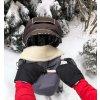 2421 cierne rukavice na kocik biobavlna