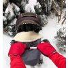 2424 cervene rukavice na kocik biobavlna