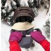 2427 fialove rukavice na kocik biobavlna