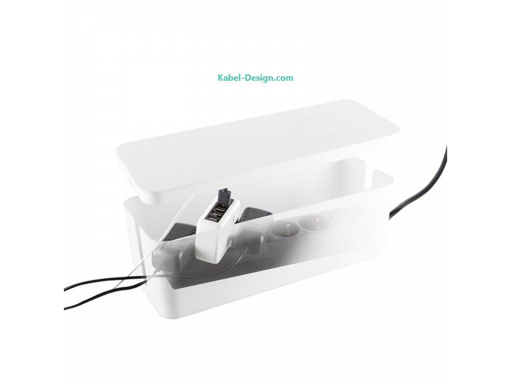 Kabelový organizér box - Cable box (Balení 1 ks, Barva černá, Velikost 407 x 157 x 133.5 mm)