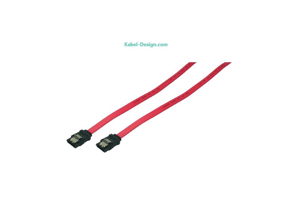 1049 interni sata hdd kabel 2x zastrcka cervena 0 5m