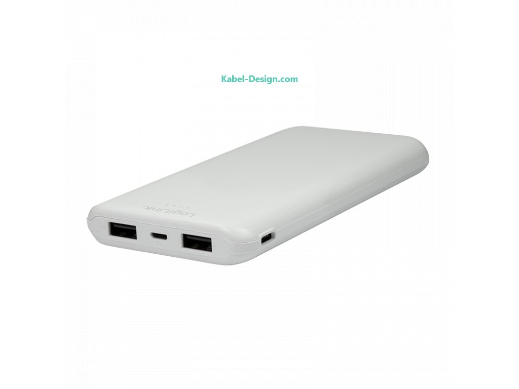 Powerbanka - 10 000 mAh, lithium-polymer, 2x USB-A (Barva bílá)