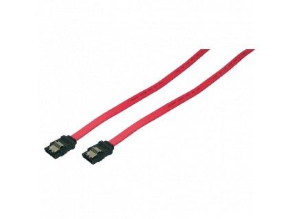 Interní SATA HDD kabel 2x zástrčka, červená, 0,5m