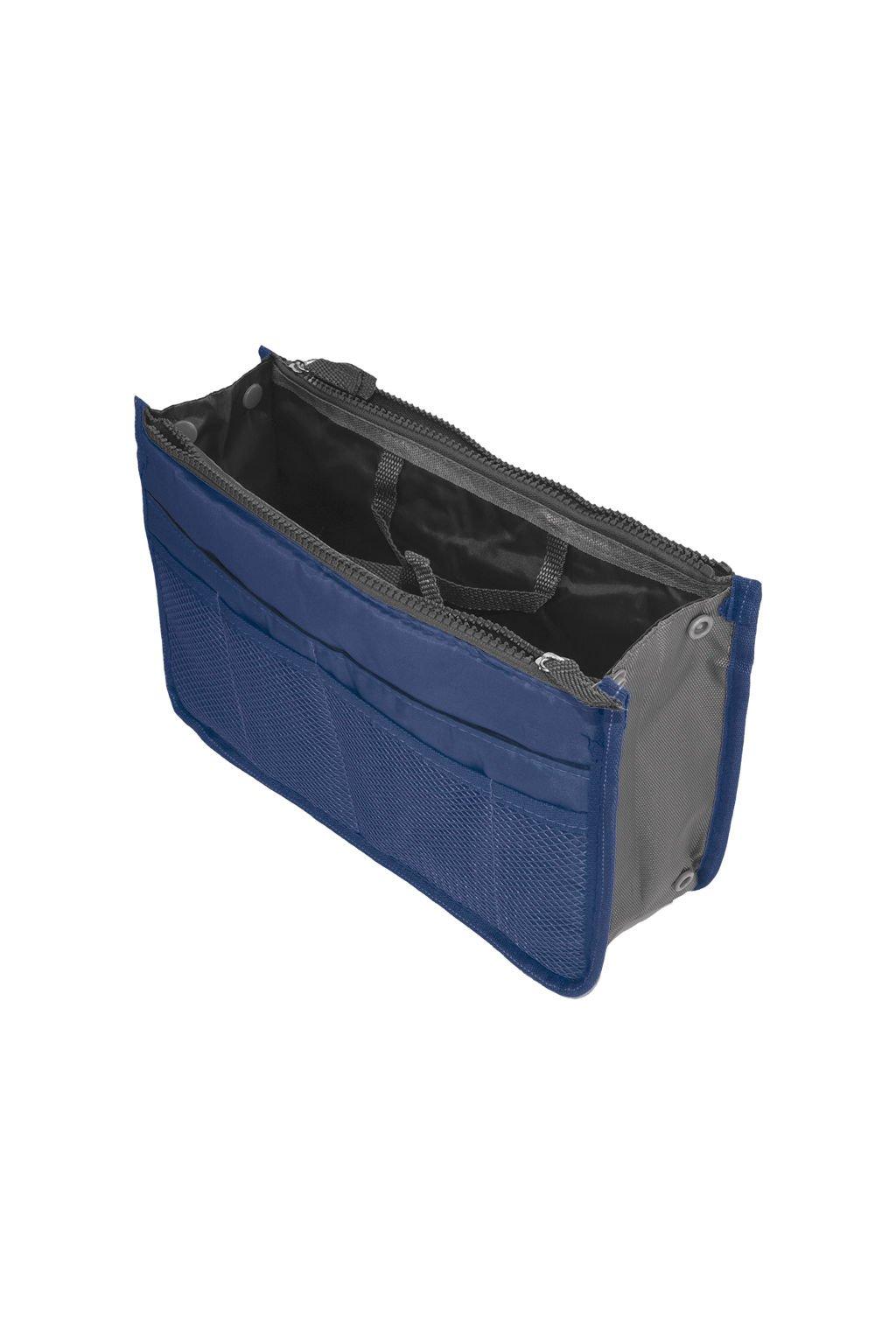 Tmavě modrý organizér do kabelky