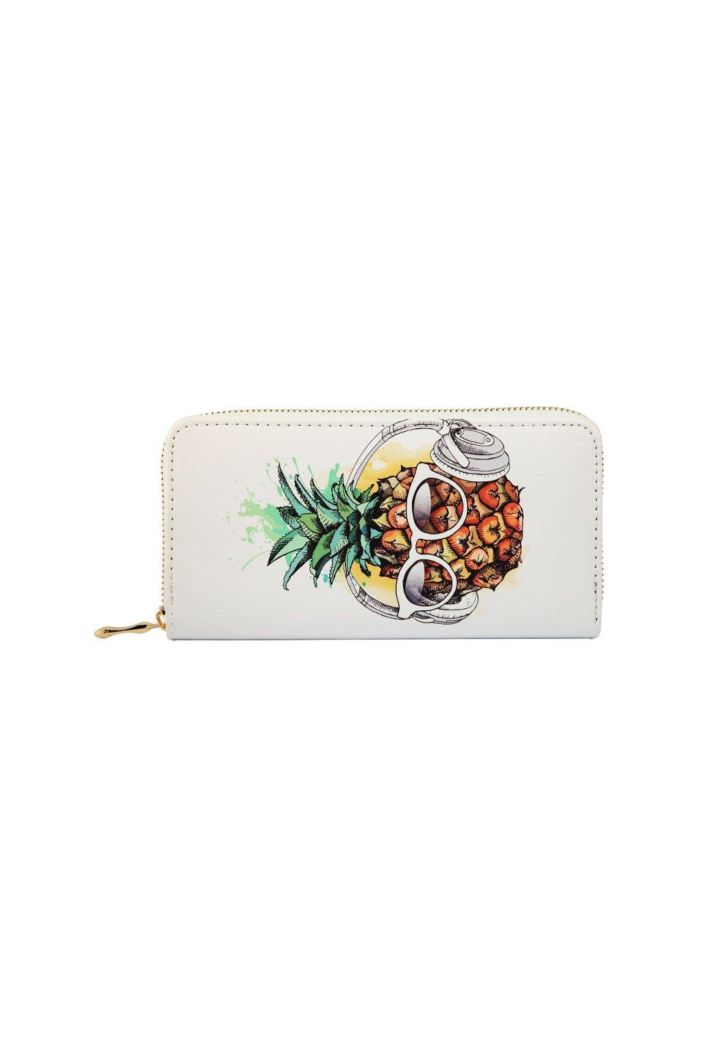 Bílá peněženka Ananas