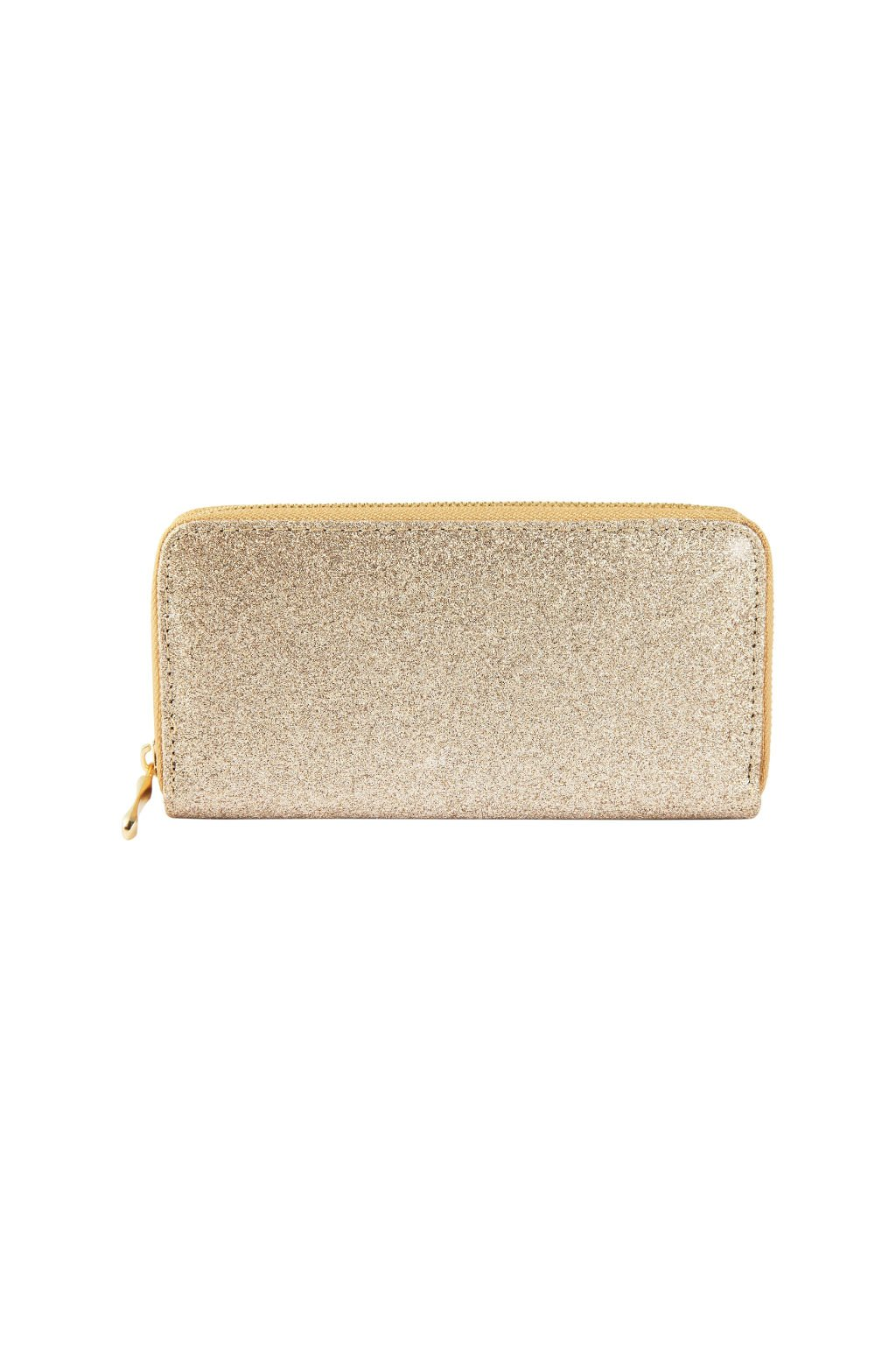 Peněženka s hrubým zlatým povrchem