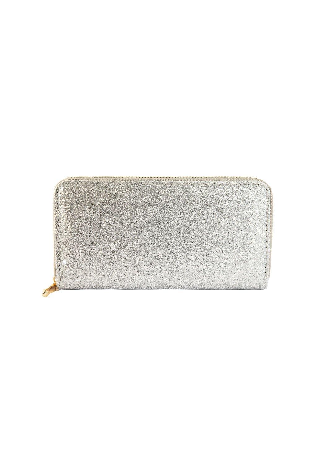 Peněženka s hrubým stříbrným povrchem