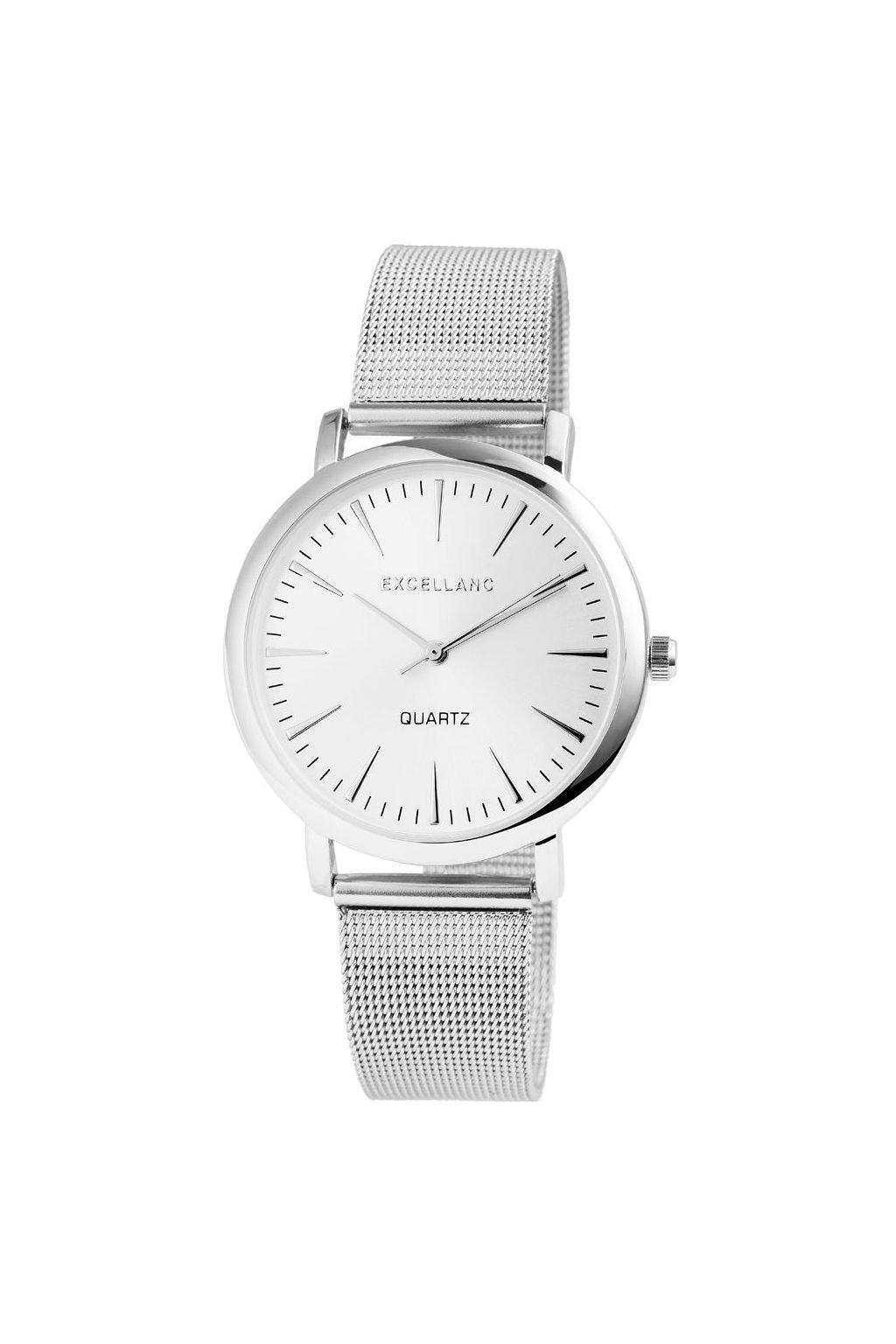Elegantní stříbrné hodinky Excellanc z nerezové oceli