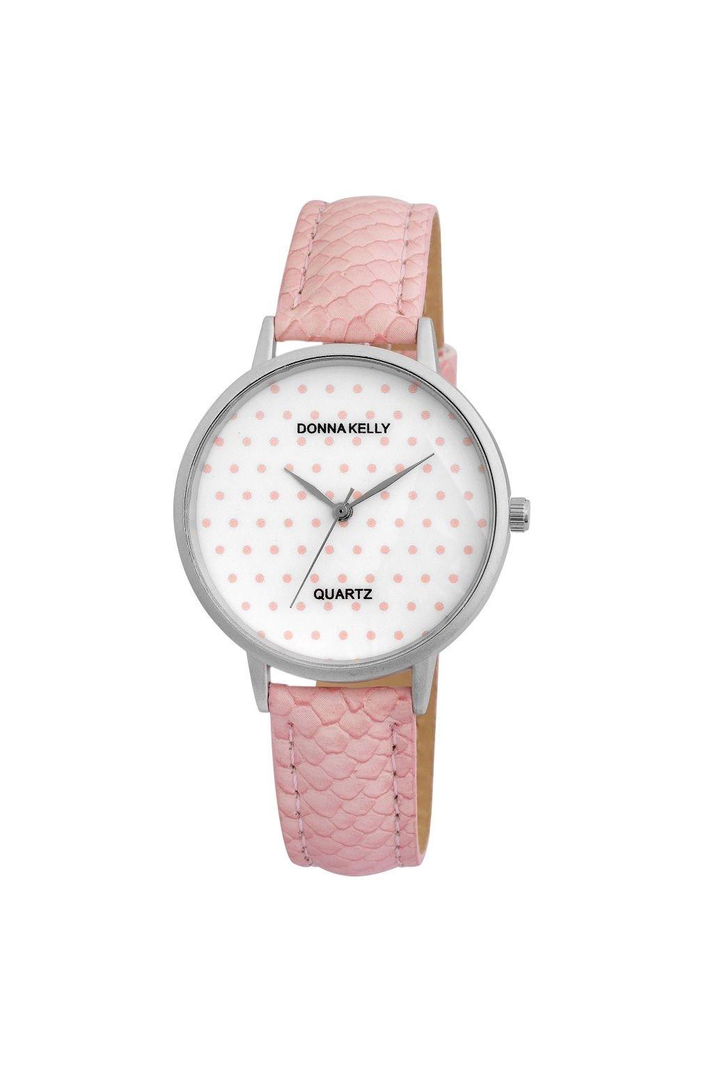 Puntíkaté růžové hodinky Donna Kelly
