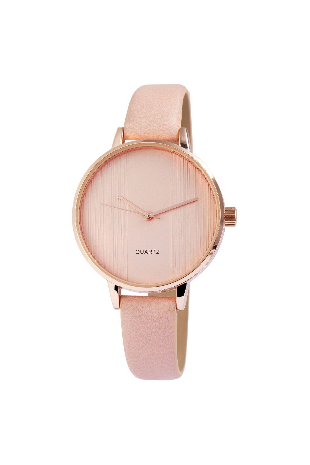 Elegantní hodinky s růžovým páskem