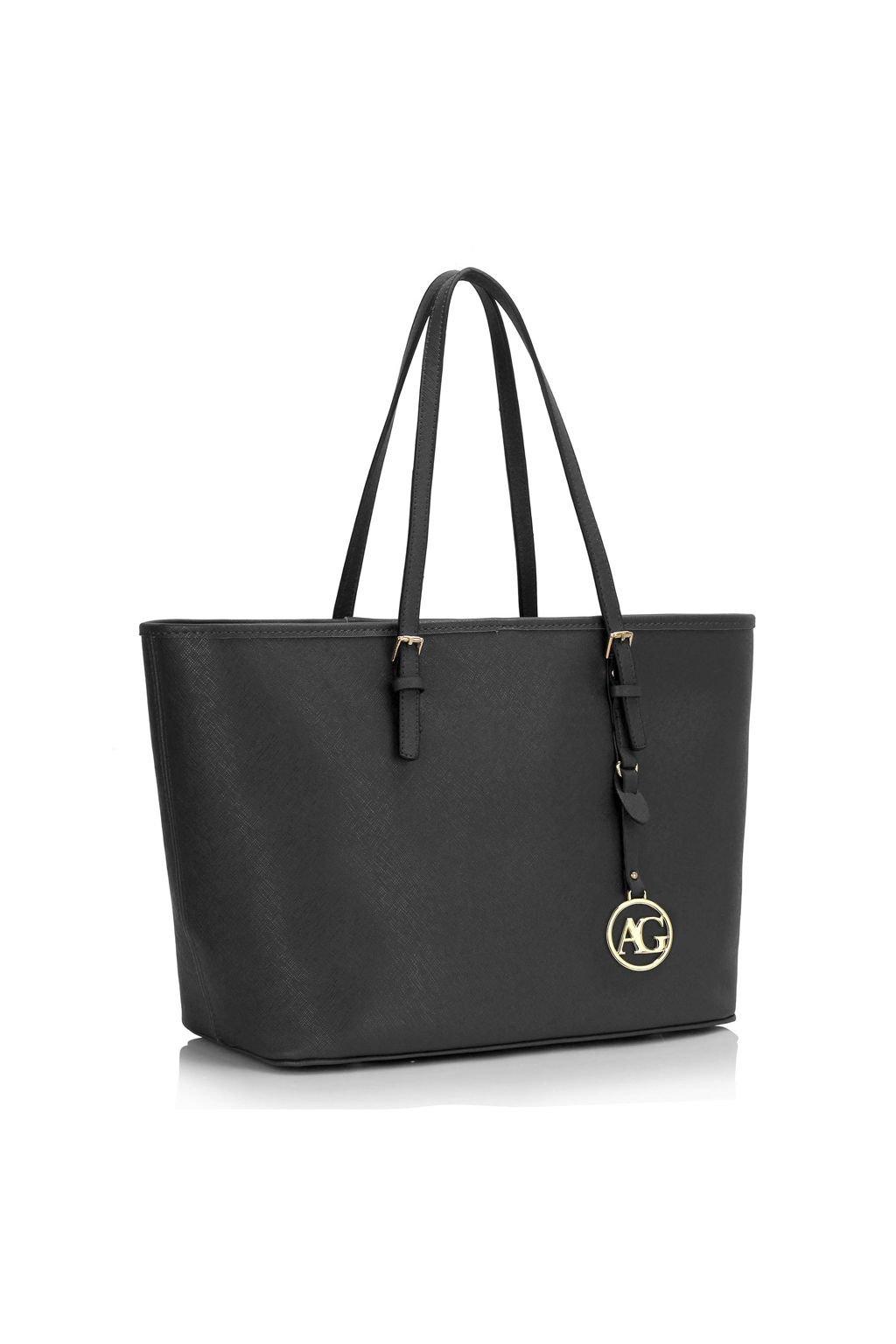 Černá velká shopper kabelka Anna Grace
