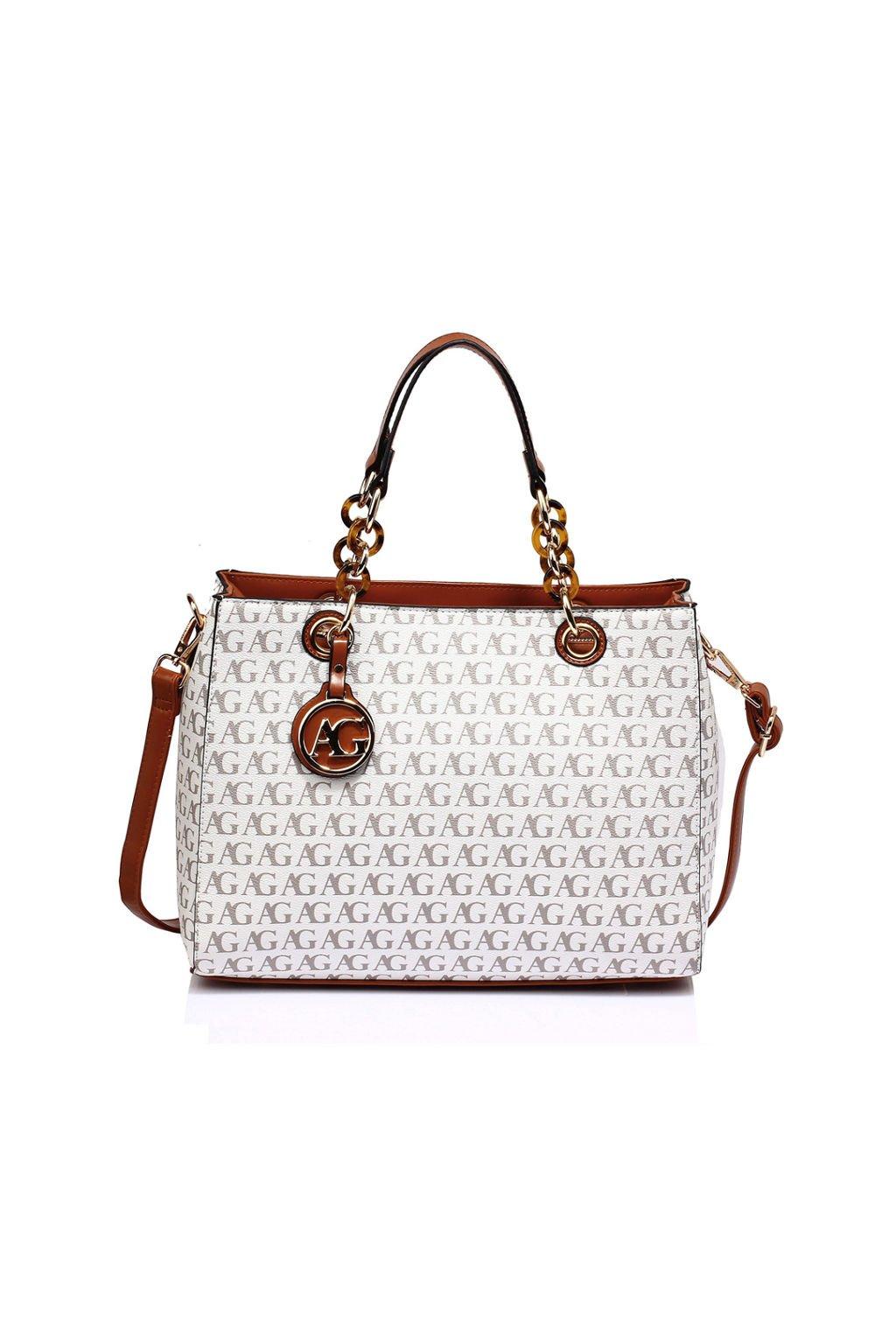 Luxusní bílá kabelka Anna Grace