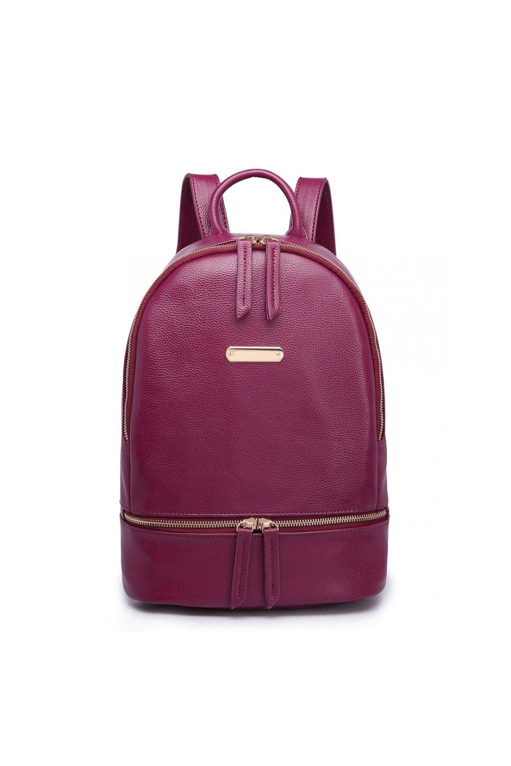 Elegantní vínový batoh z eko kůže Miss Lulu