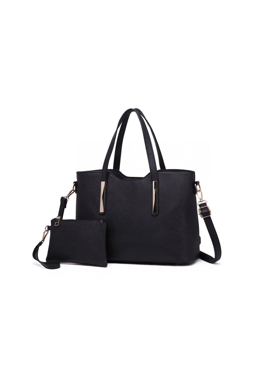 Elegantní černý set kabelka a pouzdro 2v1