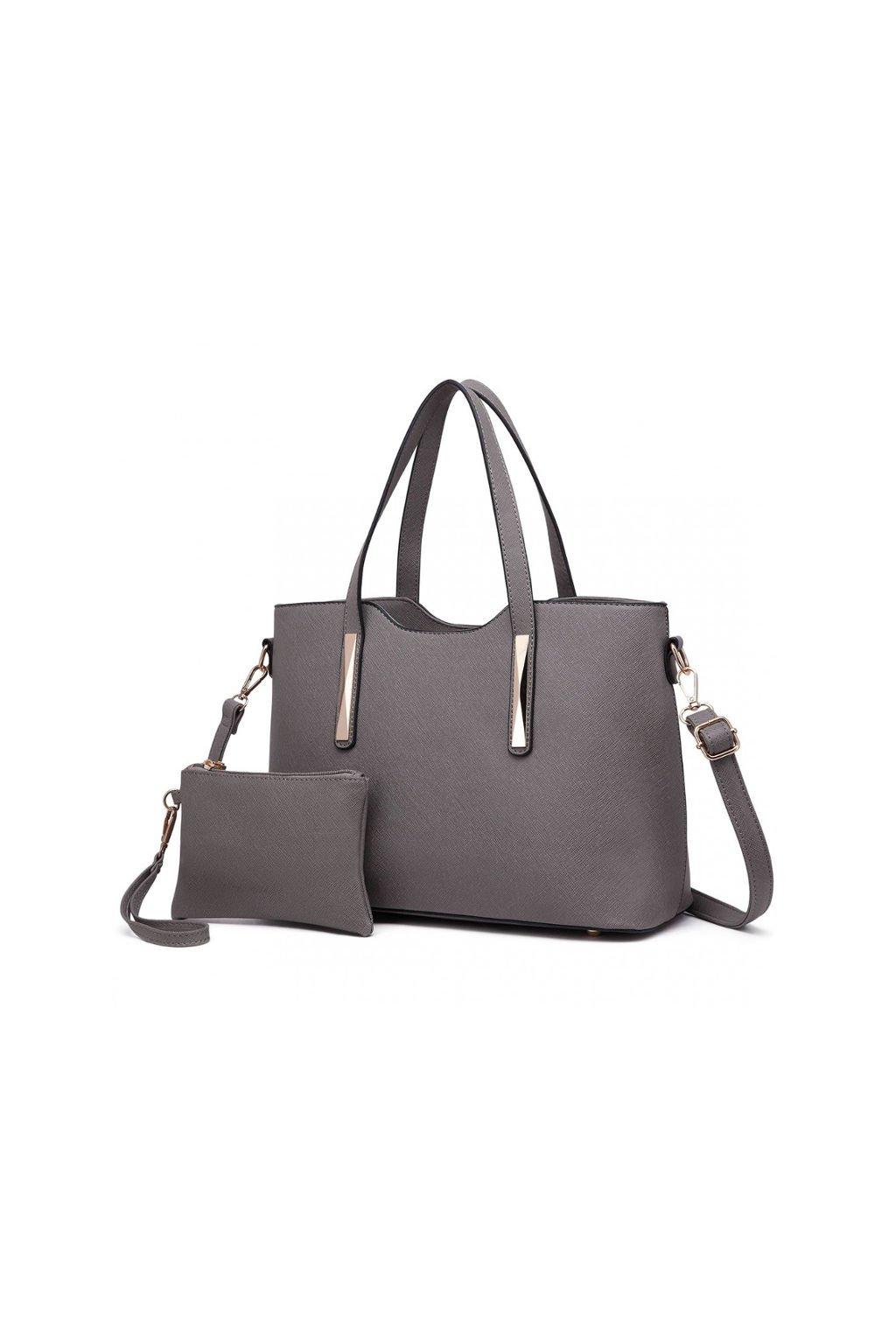 Elegantní šedý set kabelka a pouzdro 2v1