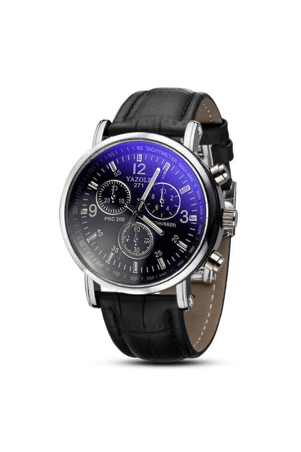 Moderní pánské hodinky s černým páskem