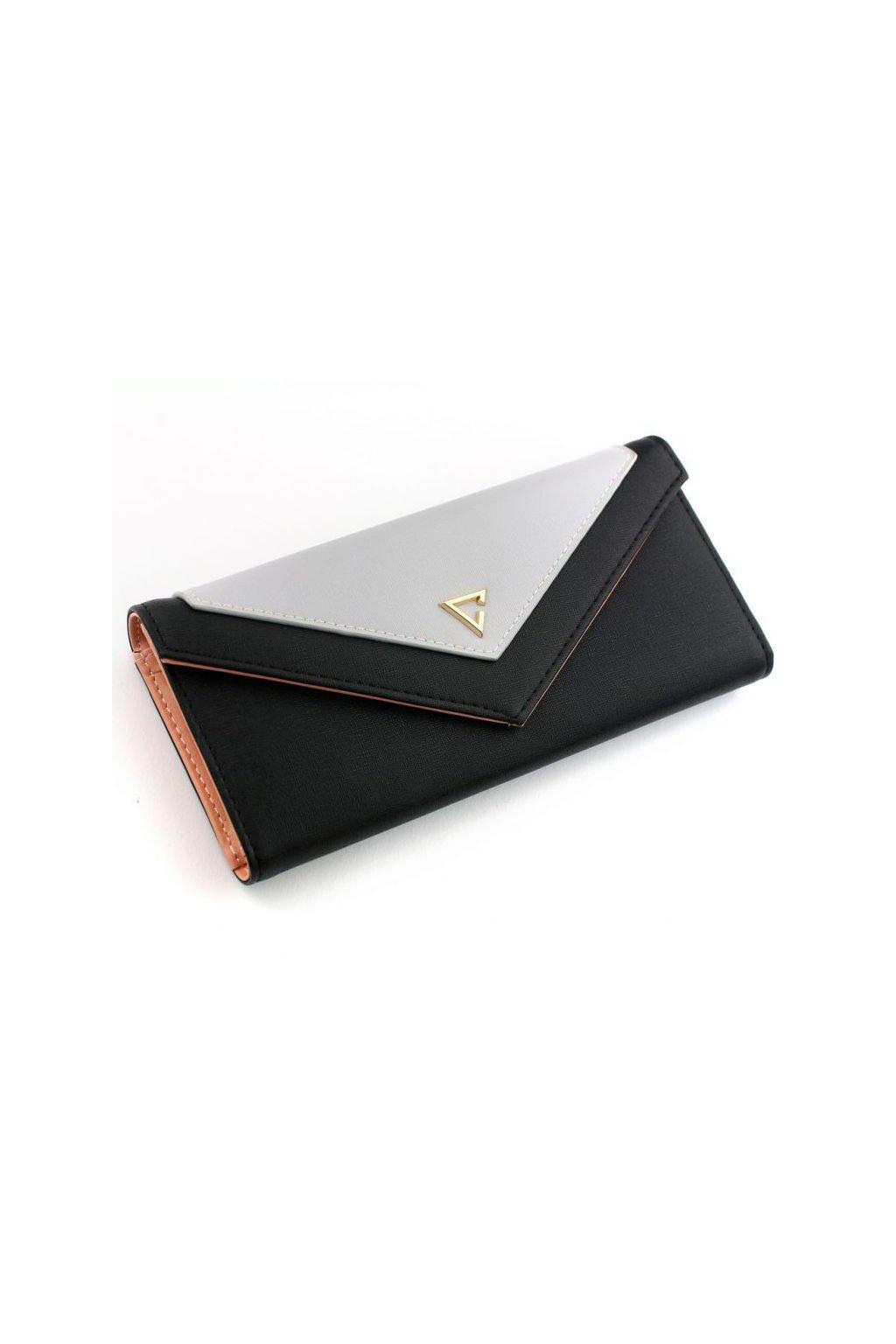 Elegantní černo-šedá peněženka