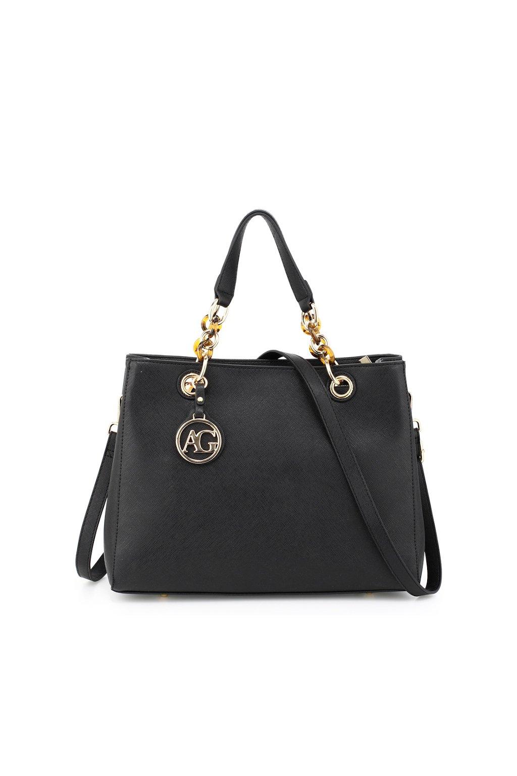 Luxusní značková černá kabelka Anna Grace