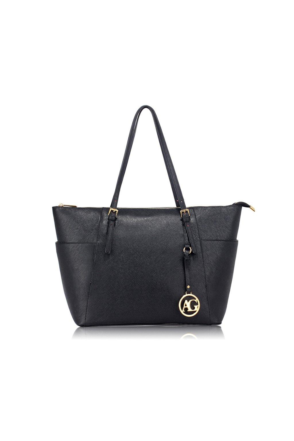 Velká černá shopper kabelka Anna Grace
