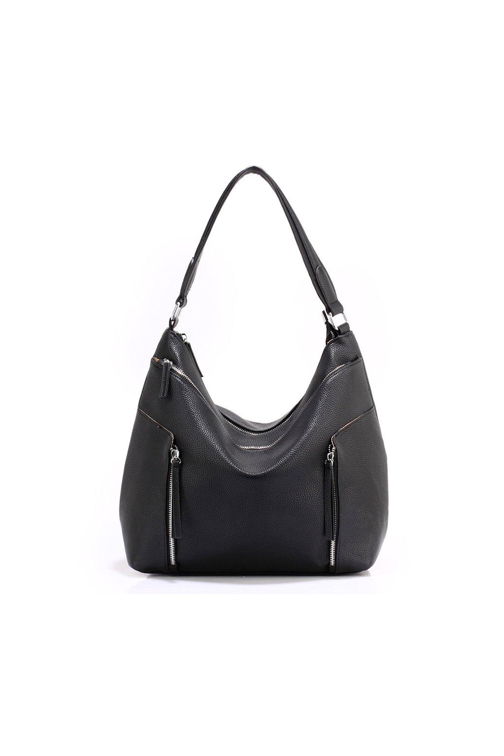 Elegantní černá hobo kabelka Anna Grace